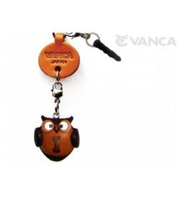 Alphabet Owl I Leather Animal Earphone Jack Accessory