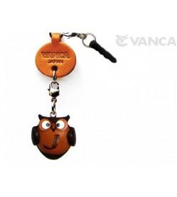 Alphabet Owl J Leather Animal Earphone Jack Accessory