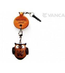 Alphabet Owl W Leather Animal Earphone Jack Accessory