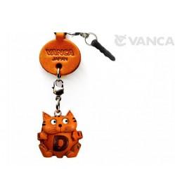 Alphabet Cat D Leather Animal Earphone Jack Accessory