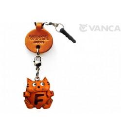 Alphabet Cat F Leather Animal Earphone Jack Accessory