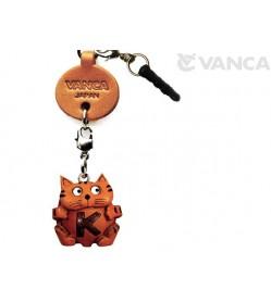 Alphabet Cat K Leather Animal Earphone Jack Accessory
