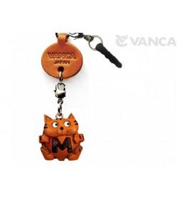 Alphabet Cat M Leather Animal Earphone Jack Accessory