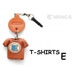 E/Blue Leather T-shirt Earphone Jack Accessory