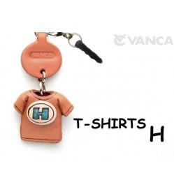 H/Blue Leather T-shirt Earphone Jack Accessory