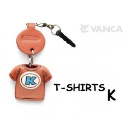 K/Blue Leather T-shirt Earphone Jack Accessory