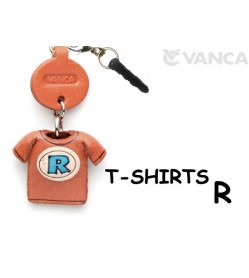 R/Blue Leather T-shirt Earphone Jack Accessory