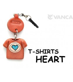 Heart Mark/Blue Leather T-shirt Earphone Jack Accessory