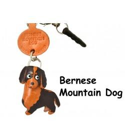 Bernese Mountain Dog Leather Dog Earphone Jack Accessory