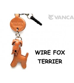 Wire Fox Terrier Leather Dog Earphone Jack Accessory