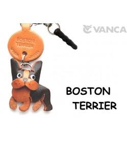 Boston Terrier Leather Dog Earphone Jack Accessory