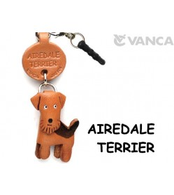 Airedale Terrier Leather Dog Earphone Jack Accessory