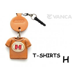 H/Red Leather T-shirt Earphone Jack Accessory