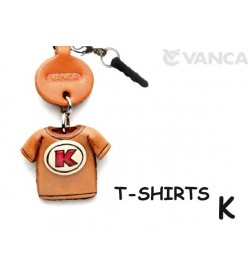 K/Red Leather T-shirt Earphone Jack Accessory