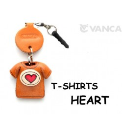 Heart Mark/Red Leather T-shirt Earphone Jack Accessory