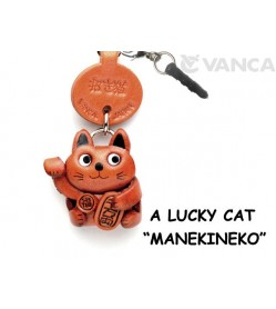 Lucky Cat Leather goods Earphone Jack Accessory