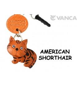 American Shorthair Leather Cat Earphone Jack Accessory