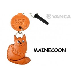 Maine Coon Leather Cat Earphone Jack Accessory