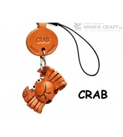 Crab Japanese Leather Cellularphone Charm Fish