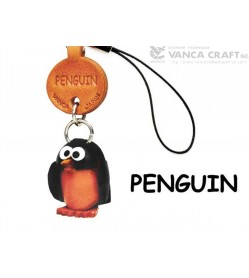 Penguin Japanese Leather Cellularphone Charm Fish