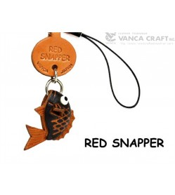 Red Snapper Japanese Leather Cellularphone Charm Fish