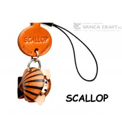 Scallop Japanese Leather Cellularphone Charm Fish