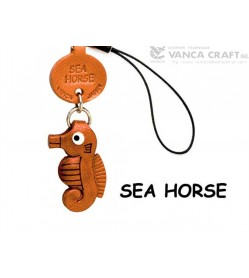 Sea horse Japanese Leather Cellularphone Charm Fish