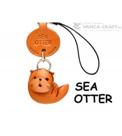 Sea-otter Japanese Leather Cellularphone Charm Fish