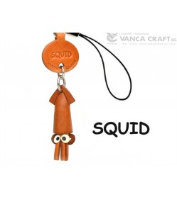 Squid Japanese Leather Cellularphone Charm Fish