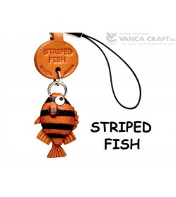 Striped fish Japanese Leather Cellularphone Charm Fish