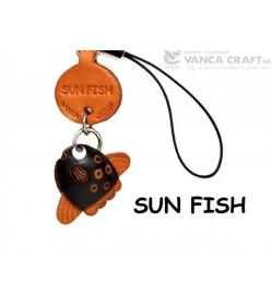 Sunfish Japanese Leather Cellularphone Charm Fish