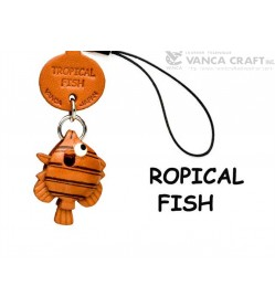 Tropical fish Japanese Leather Cellularphone Charm Fish