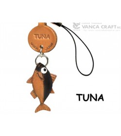 Tuna Japanese Leather Cellularphone Charm Fish