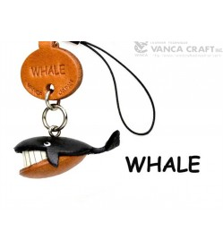 Whale Japanese Leather Cellularphone Charm Fish