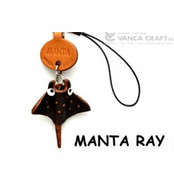 Manta Ray Leather Cellularphone Charm Sea Animals