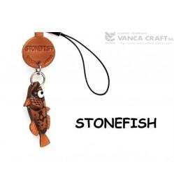 Stone fish Japanese Leather Cellularphone Charm Fish