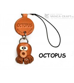 Octopus Japanese Leather Cellularphone Charm Fish