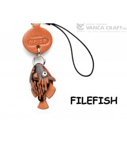 File fish Japanese Leather Cellularphone Charm Fish