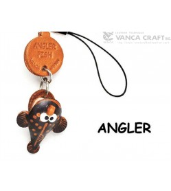 Angler Japanese Leather Cellularphone Charm Fish