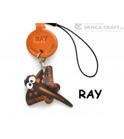 Ray Japanese Leather Cellularphone Charm Fish