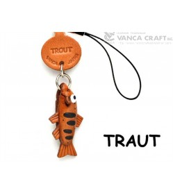 Trout Japanese Leather Cellularphone Charm Fish