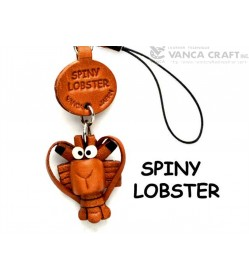 Spiny Lobster Japanese Leather Cellularphone Charm Fish