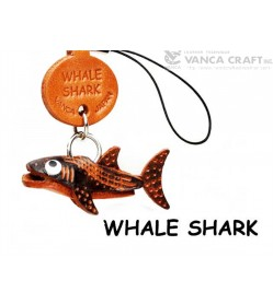 Whale shark Japanese Leather Cellularphone Charm Fish