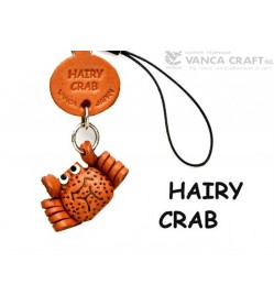 Hairy Crab Japanese Leather Cellularphone Charm Fish
