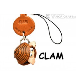 Clam Japanese Leather Cellularphone Charm Fish