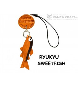 Ryukyu Sweetfish Leather Cellularphone Charm