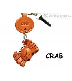Crab Leather Fish & Sea Animal Earphone Jack Accessory