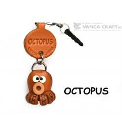 Octopus Leather Fish & Sea Animal Earphone Jack Accessory