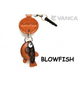 Blowfish Leather Fish & Sea Animal Earphone Jack Accessory