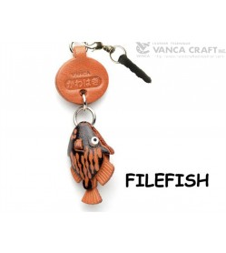 Filefish Leather Fish & Sea Animal Earphone Jack Accessory